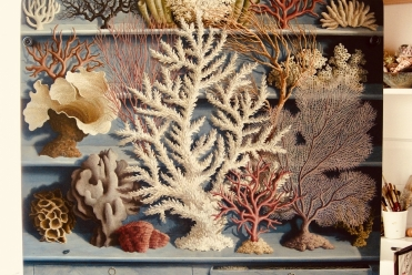 Cabinet of Corals, Oil on Board