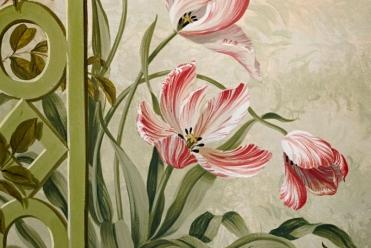 In the Studio of decorative artist Lucinda Oakes