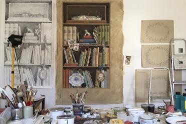 Tromp L'Oeil , Ballyfin, Acrylic on Canvas